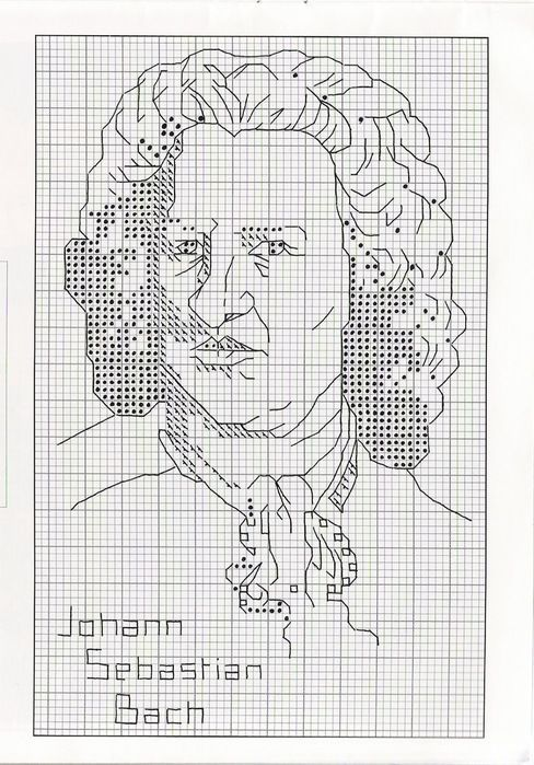 Схемы вышивок своих портретов 951