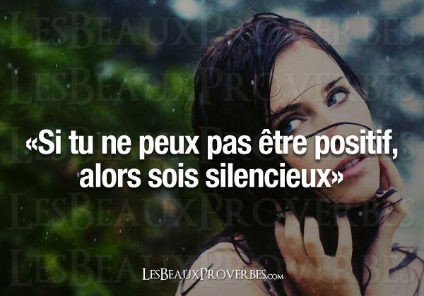 Sois silencieux