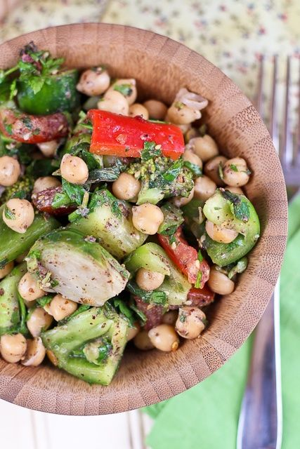 Veggie Overload Chickpea Salad, #Chickpea, #Healthy, #Salad, #Veggie