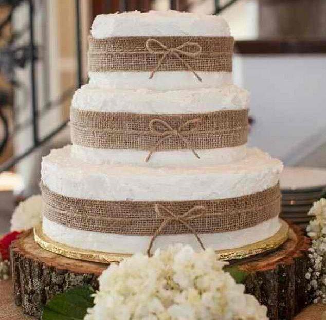 Simple Rustic Wedding Cakes Pinterest