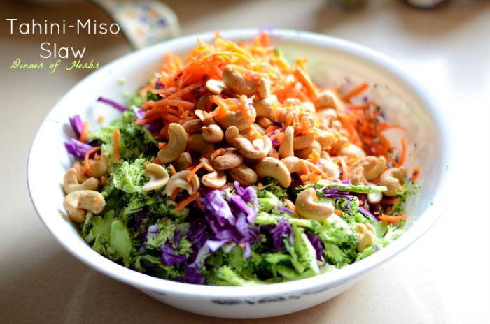 Tahini-Miso Slaw | Dinner of Herbs | Favourite Recipes: Salads and Sa ...