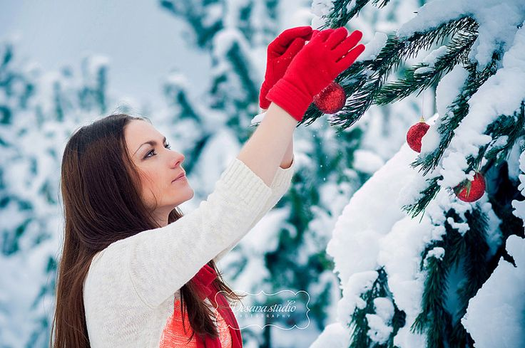 Фотосессия зимой в лесу идеи для девушки фото
