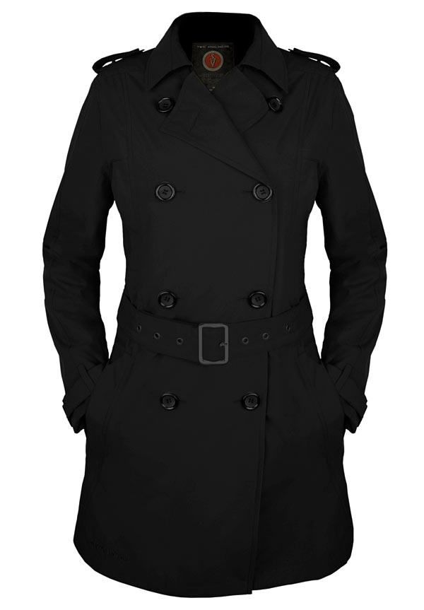 Trench coat with gadget-stashing pockets