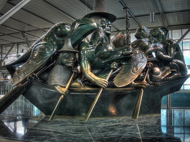 Bill Reid sculpture, Vancouver Airport | Flickr - Photo Sharing!