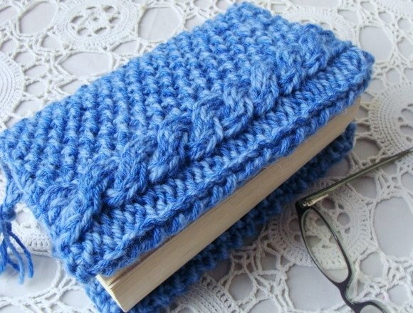 Knitting Pattern Book Cover : Knit Cable Book Cover Knitting Pinterest
