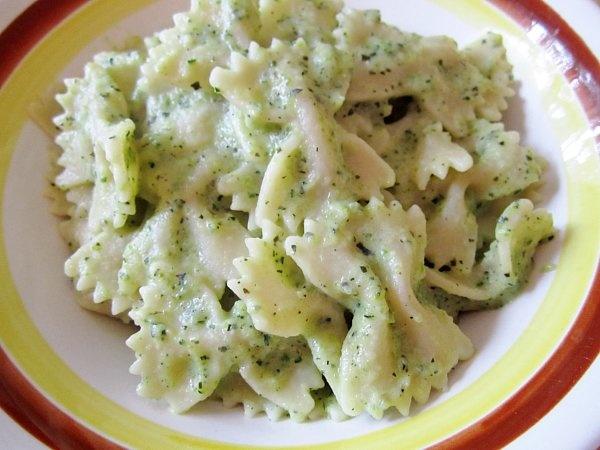farfalle with zucchini sauce   Food   Pinterest