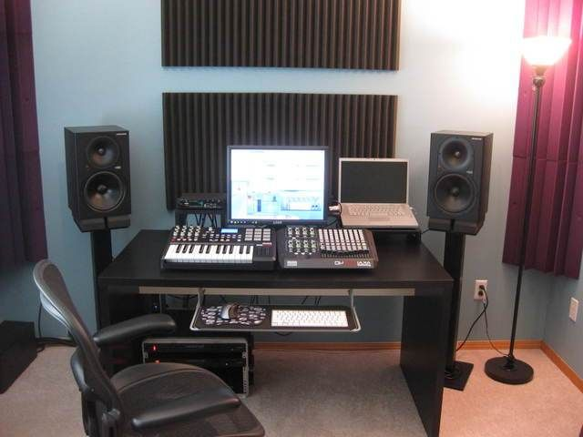 music studio desk ikea home music studio pinterest. Black Bedroom Furniture Sets. Home Design Ideas