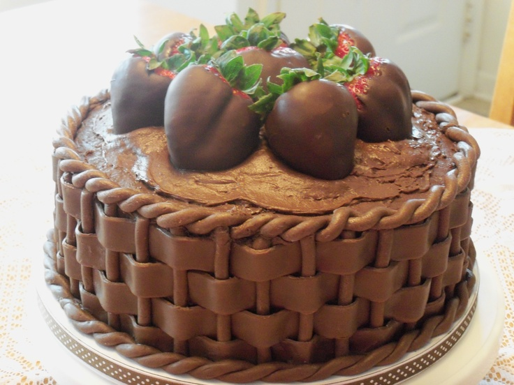 Chocolate Dipped Strawberry Basket Cake. | FOOD FOR THE GODS ...