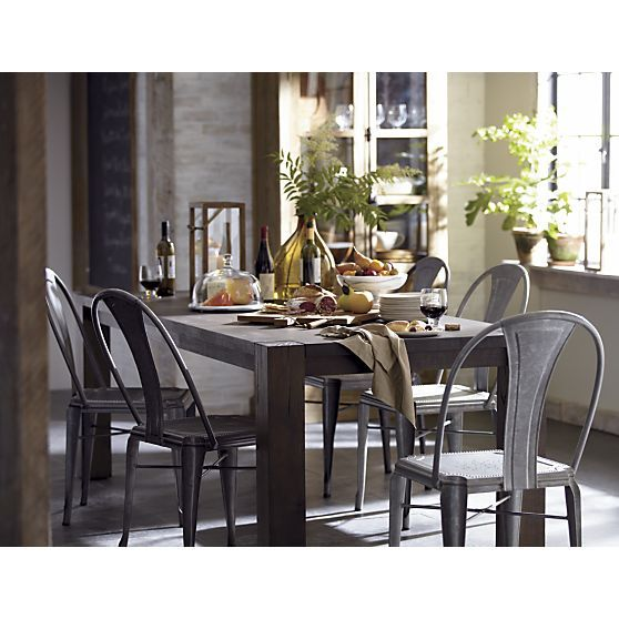 dining table big sur dining table crate and barrel. Black Bedroom Furniture Sets. Home Design Ideas