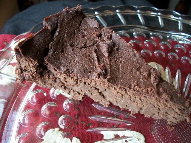 Flourless Vegan Chocolate Cake made w/ Black eyed Peas and Silken Tofu