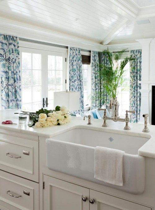 Large White Kitchen Sink : kitchens