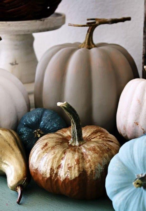 Diy Gorgeous Chalk Paint Pumpkins Halloween Pinterest
