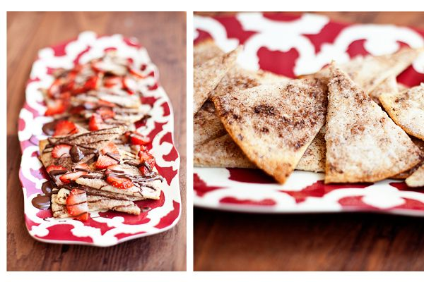 Chocolate Strawberry Nachos on Cinnamon Chips - The Krazy Coupon Lady