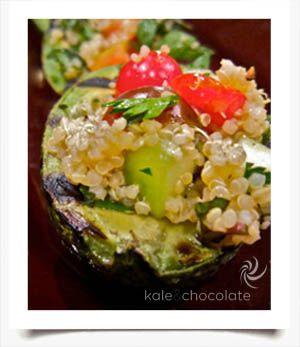 Grilled Avocado & Quinoa Salad Recipe | Yummy | Pinterest