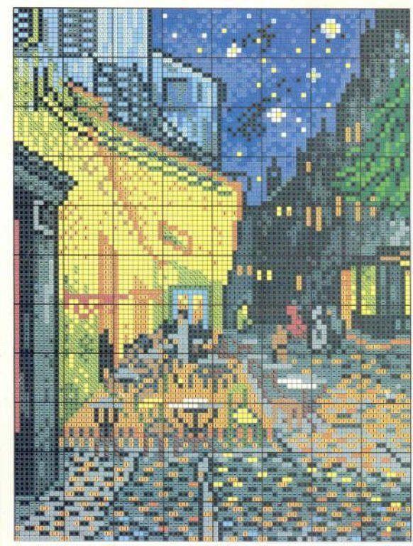 Схема вышивки картин ван гога 83