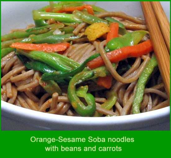 Orange-Sesame Soba Noodles | Pasta & Risotto & Polenta | Pinterest