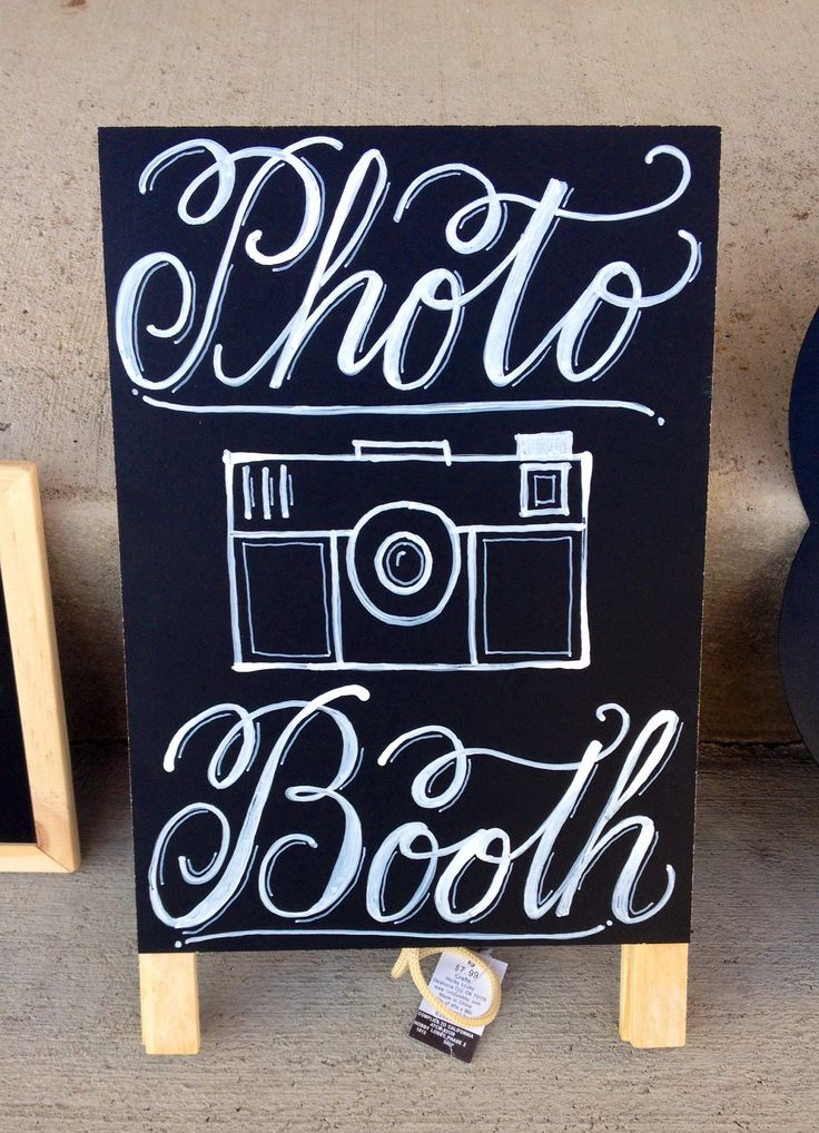 Photo booth chalkboard sign   Pink Ink Paper   Pinterest