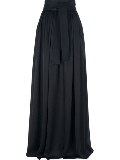 lanvin high waisted maxi skirt monochrome