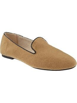 Old Navy Women's Felt Smoking Flat