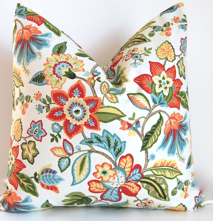 Decorative Pillows Tropical : Tropical Decorative Pillow Covers Throw Pillows Accent Pillows Floral?