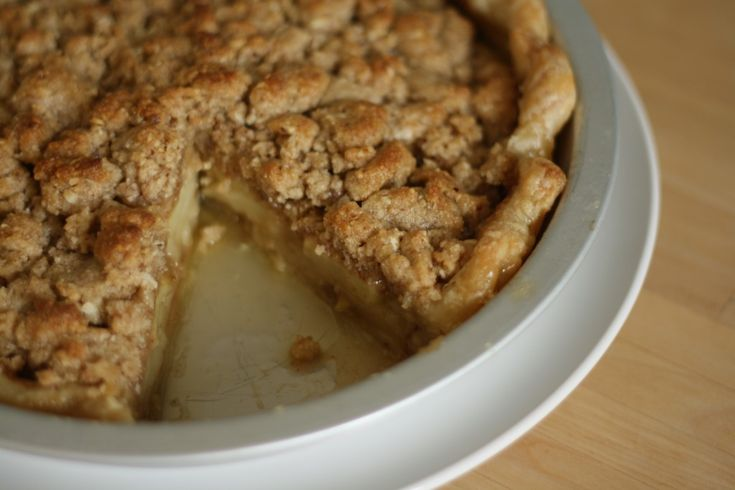 Brown butter pie with almond crumble | Southern Flare... | Pinterest