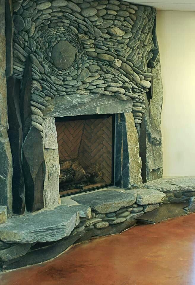 Natural Stone Fireplace Game Room Addition Pinterest