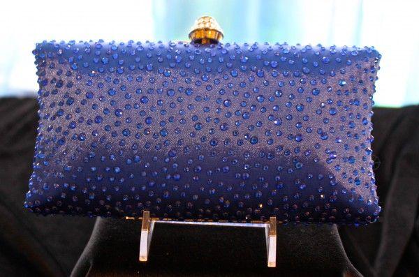 Cobalt Blue Evening Bag