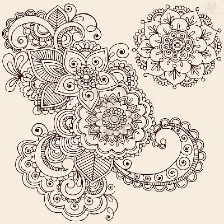 Paisley Henna Tattoo Designs on Traditional House Design