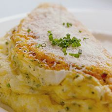 Souffle Omelette with Swiss Gruyere Cheese and Parmesan vegetarian ...