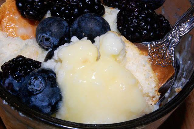 Lemon Buttermilk Pudding Cake from Newlyweds