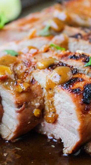 Grilled Asian Pork Tenderloin With Peanut Sauce Recipe ...