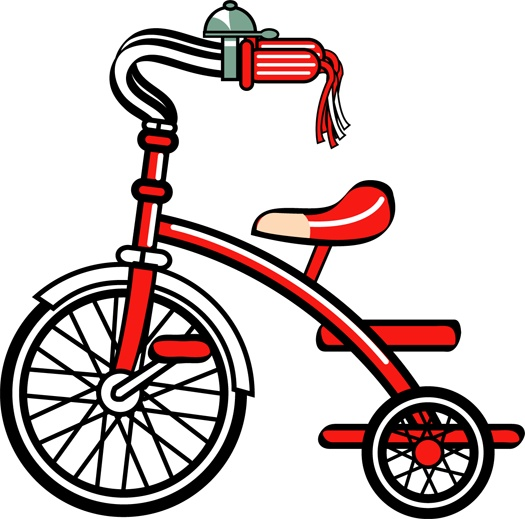 clip art of tricycle - | ABC Bicycles | Pinterest
