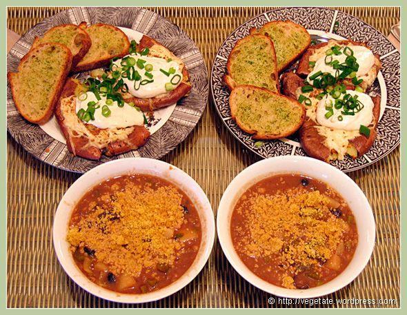 White Bean & Olive Soup with Potato Squashers #Vegan #Vegetarian ...