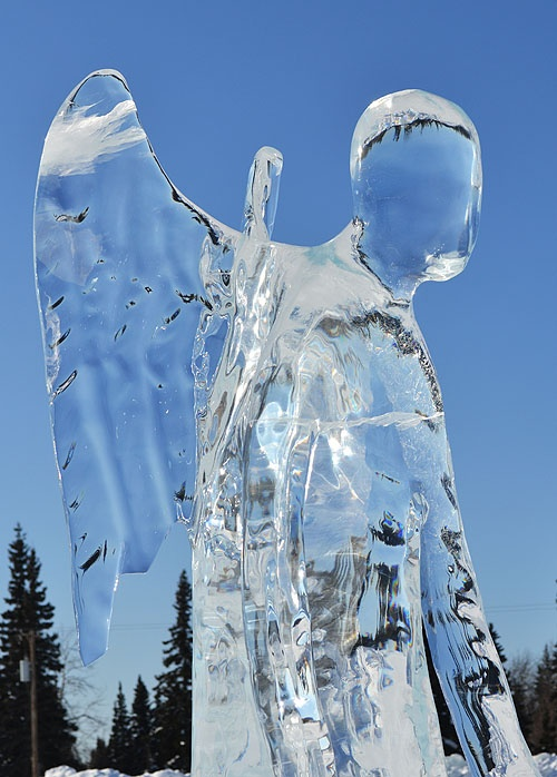 love this ANGEL of ICE...