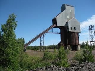 An old copper mine hoist near Calumet, Michigan on the Upper Peninsula.