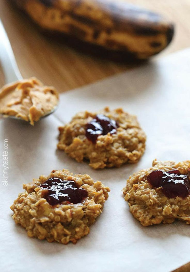 Peanut Butter & Jelly Oatmeal Cookies – Made with just 4 ingredients ...