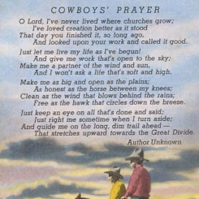 More like this cowboy prayer and prayer