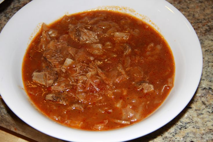 Sweet & Sour Russian Cabbage Soup...This is one terrific soup.
