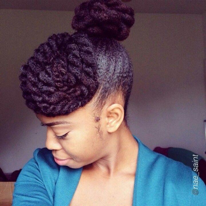 Twisted bun | Natural Hair | Pinterest