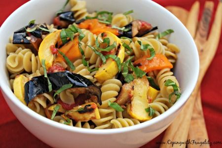 Ratatouille Pasta with Grilled Vegetables #MeatlessMonday
