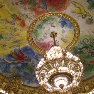 Chagall's ceiling Paris Opera Garnier | April in Paris | Pinterest