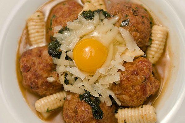 Spicy Duck Meatballs With Mint Cavatelli Recipe — Dishmaps