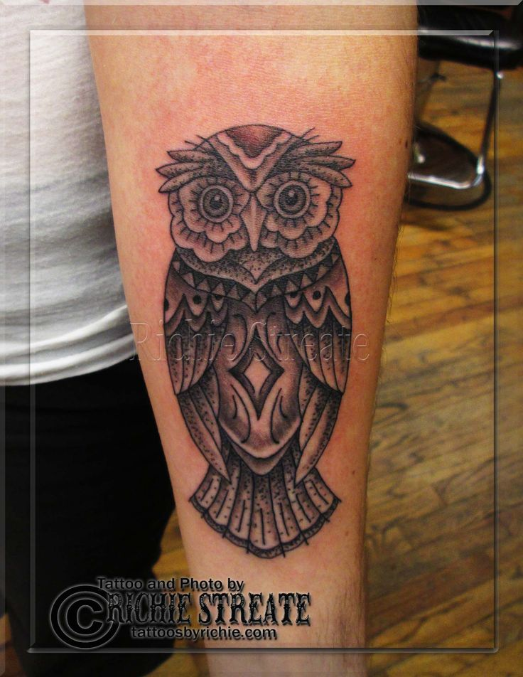 Owl Tattoo Traditional  Tattoos By Richie Streate Pin
