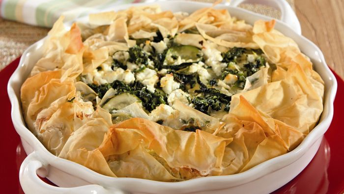 Vegetable and Goat Cheese Phyllo Pie — Go Red For Women