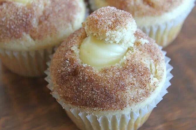 Donut muffin w/ vanilla pastry cream | Cake, cupcakes etc | Pinterest