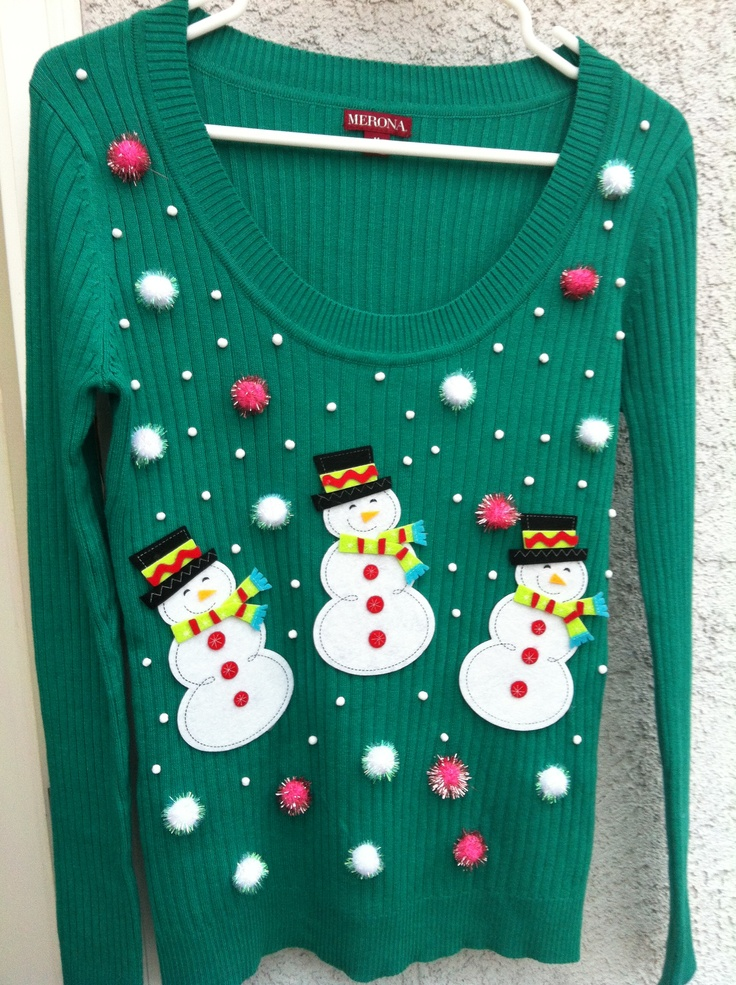 do it yourself ugly christmas sweater holidays pinterest