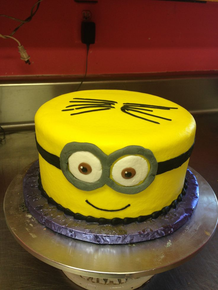 Minion Birthday Cake Homemade Image Inspiration of Cake and