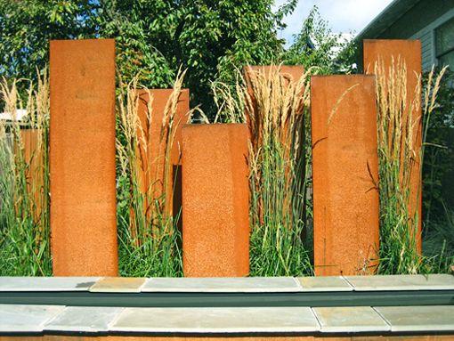 Corten Steel Screen Garden Pinterest