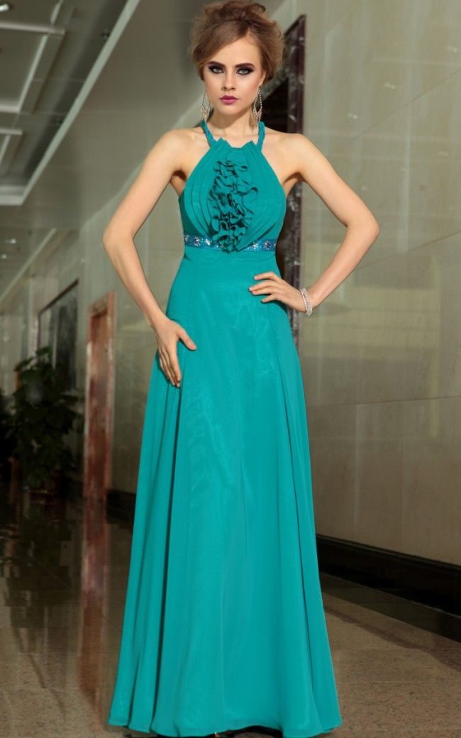 2015 fashion blue high waist wedding dress