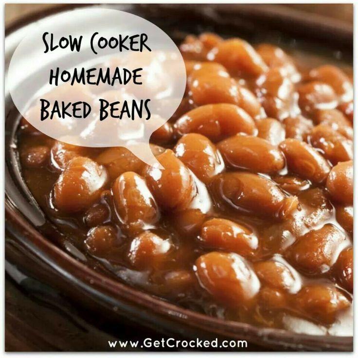 Slow Cooker Homemade Baked Beans | Recipes | Pinterest
